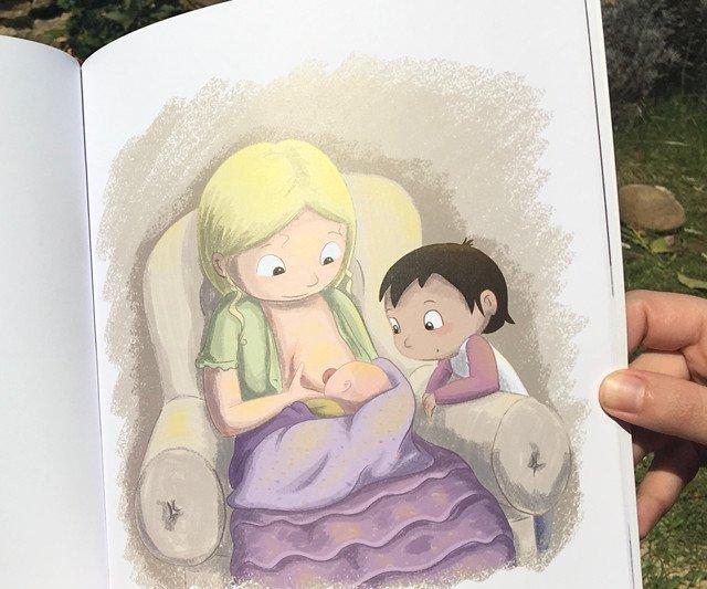 Extrait de l'album Bébé a faim, écrit et illustré par Virginie Maillard