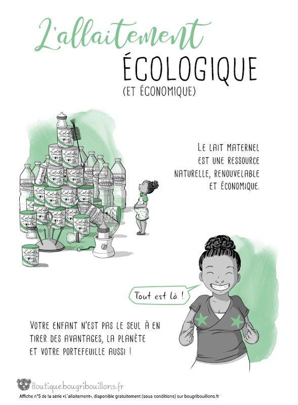 L'allaitement écolo, illustré par Bougribouillons