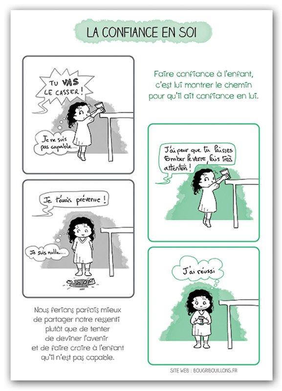 La confiance en soi, illustrée par Bougribouillons