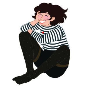 Auto-illustration par Caroline Guillot