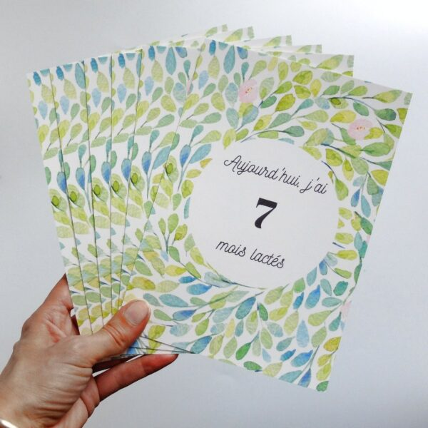 Cartes étapes bébé pour fêter chaque mois d'allaitement pendant la première année