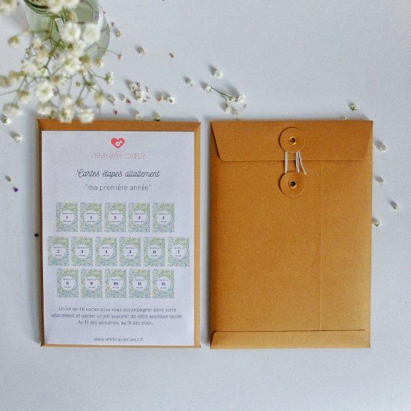 Le packaging des cartes étapes Ma première année