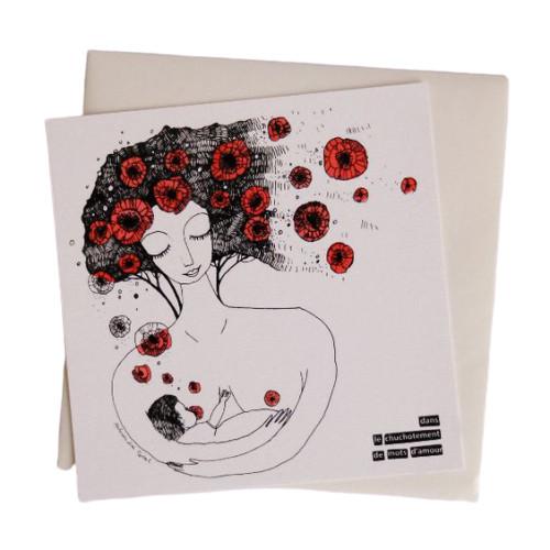 La carte allaitement Olalarte avec une enveloppe blanche