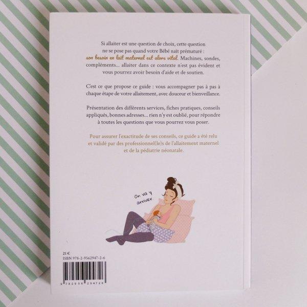La quatrième de couverture du guide d'allaitement du prématuré
