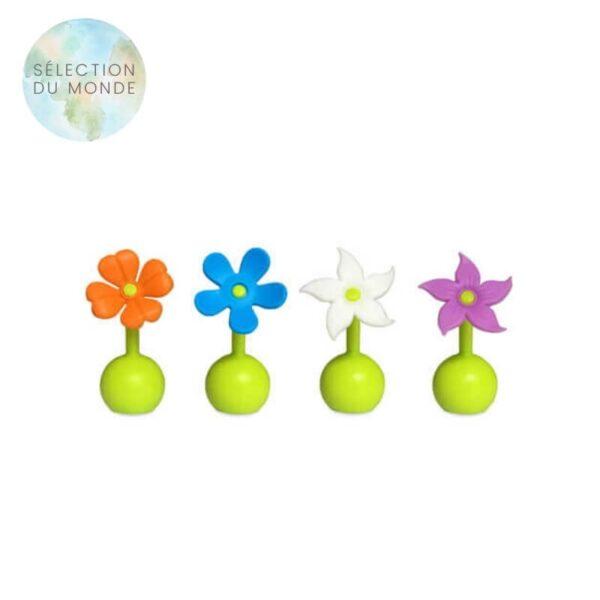 Le bouchon recueil lait floral Haakaa est disponible en 4 coloris