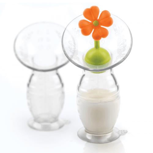 Le recueil lait Haaka avec le bouchon fleur orange