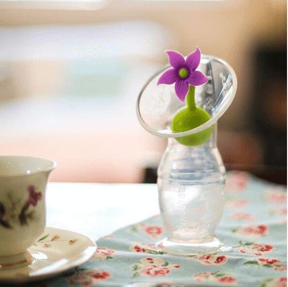 Le recueil lait Haaka avec le bouchon fleur violet