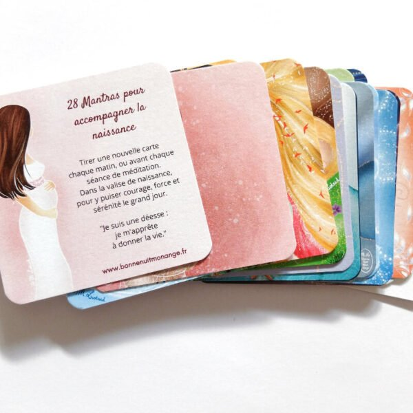 28 cartes mantras pour accompagner la naissance