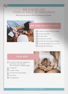 Télécharger votre check list Valise de maternité offerte