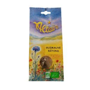 Bâton de guimauve bio récolté en France