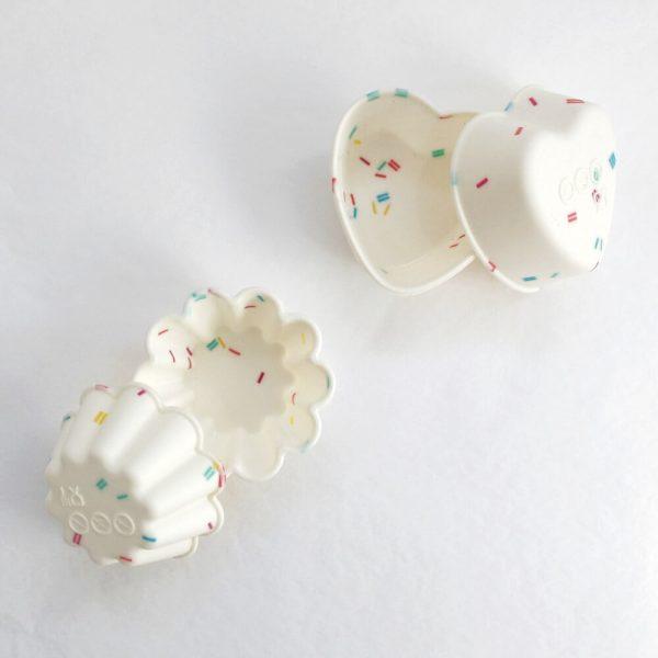 Les 2 modèles de moules disponibles dans la box Diy savon au lait maternel, de L'Embrasse Coeur