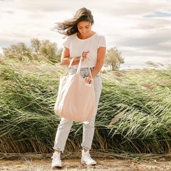 Le cabas - sac à langer Adorna , coloris rose poudré