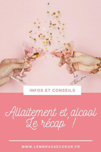 Allaitement et alcool, épingle Pinterest