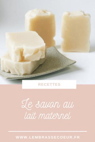 Epingle pinterest pour la recette du savon au lait maternel