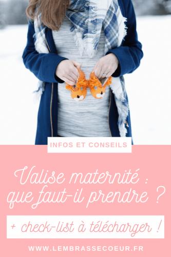 Valise maternité : que faut-il prendre, épingle Pinterest